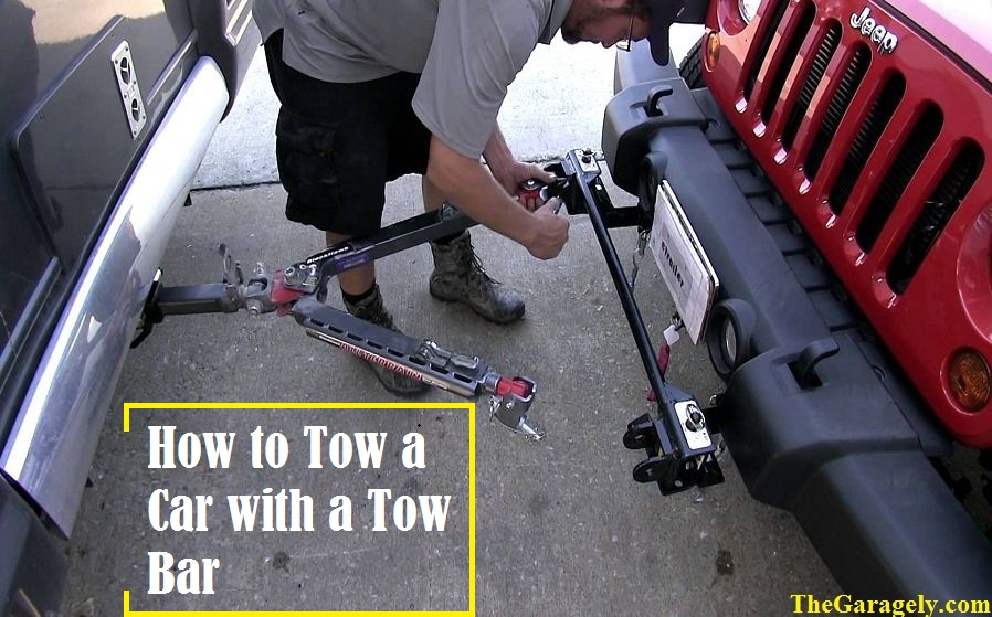 how to tow a car with a tow bar